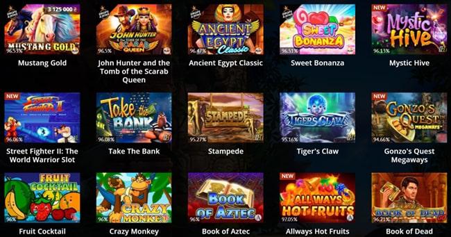 Обзор популярных игр казино Riobet